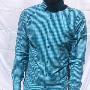 Men's checkered dress shirt